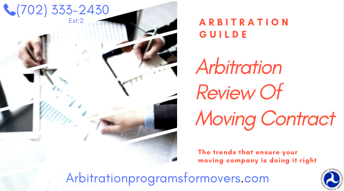 Moving Arbitration review of contract